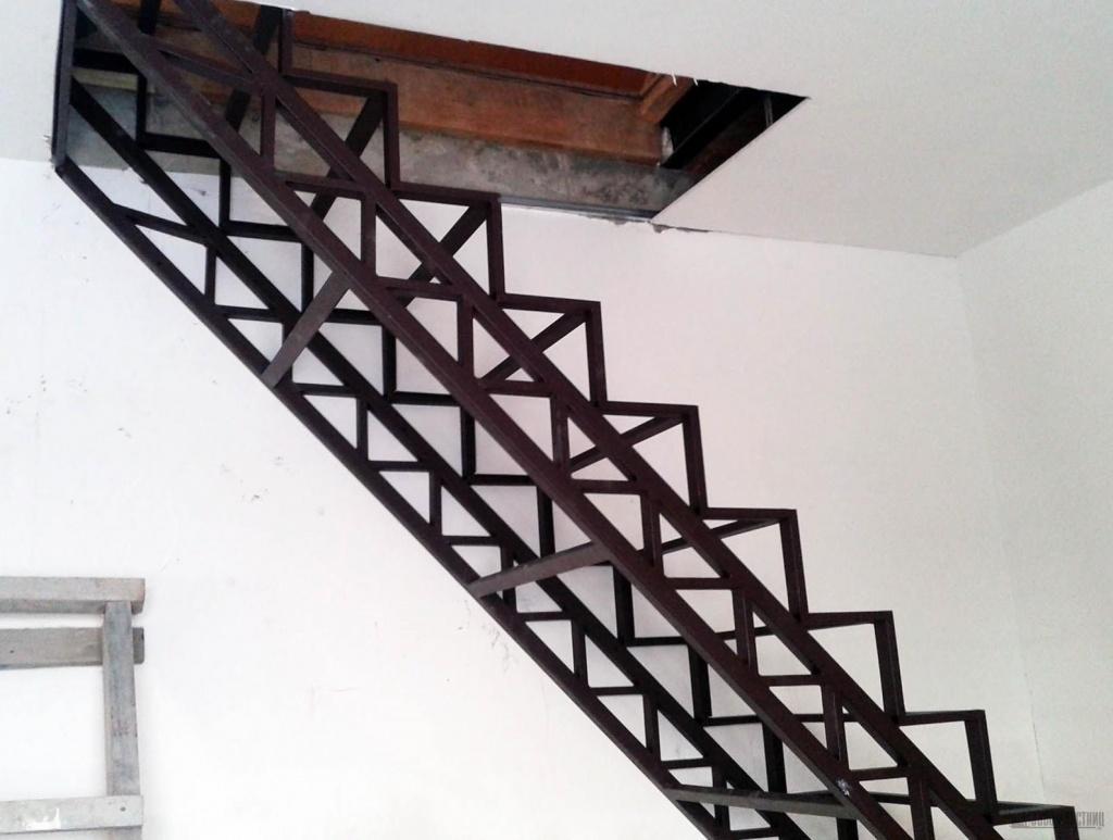 металлическая лестница своими руками фото изготавливаем стильные